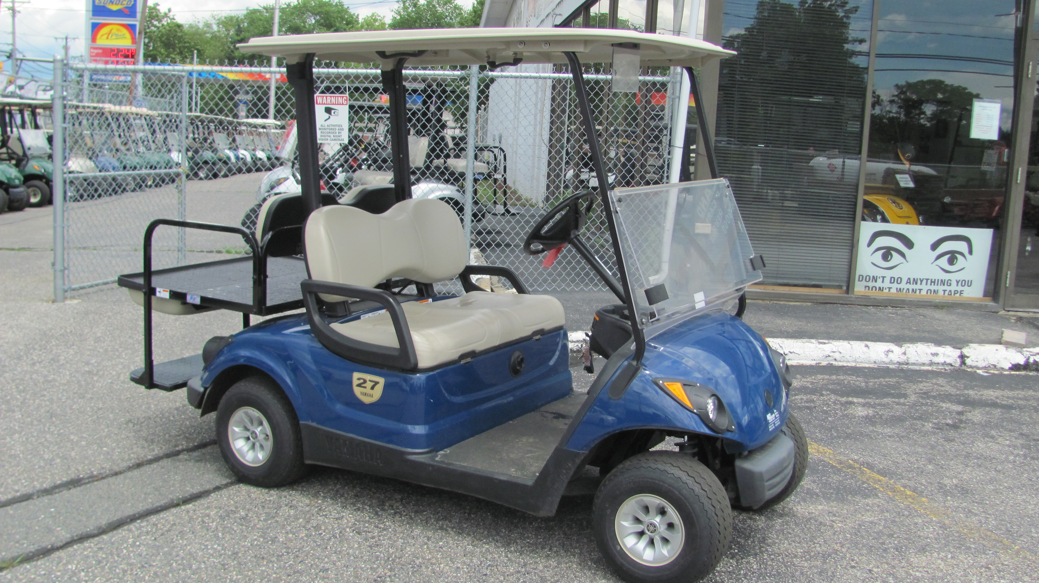 2013 yamaha electric 4 penger golf car, blue on