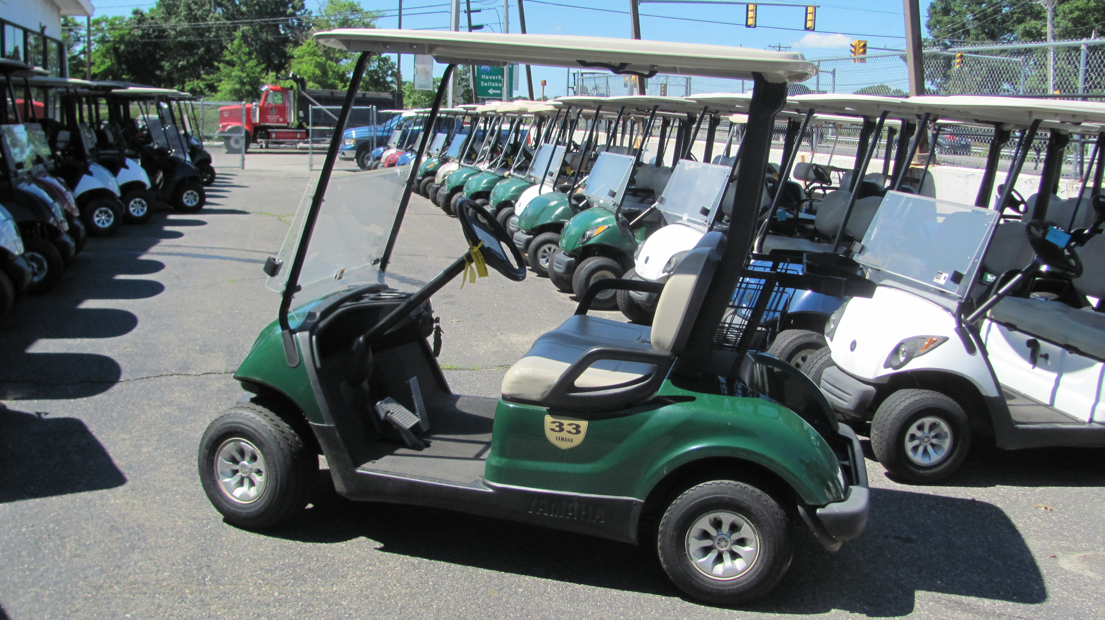 2013 yamaha gas golf car on